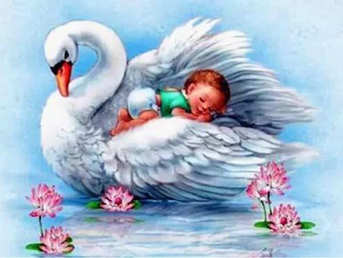 neivy Swan Animal Christmas Diamantmalerei für Erwachsene 5D Diamantkunst und Werkzeuge Volldiamant Strassmalerei Kunsthandwerk Familie (Quadrat 40x60cm)