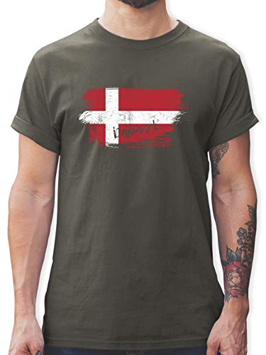 Handball WM 2021 - Dänemark Vintage - XL - Dunkelgrau - dänemark t-Shirt - L190 - Tshirt Herren und Männer T-Shirts