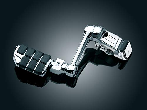 """Kuryakyn 4056 Motorcycle Foot Controls: Ergo II Cruise Mounts with Dually ISO Pegs and 6"""" Arms for Honda Gold Wing, Valkyrie Motorcycles, Chrome, 1 Pair"""