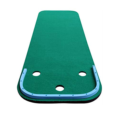 Best Prices! JHHXW Golf Putting Mats, 97 300cm Golf Mat, with Ball Retaining Ring, Portable Indoor O...
