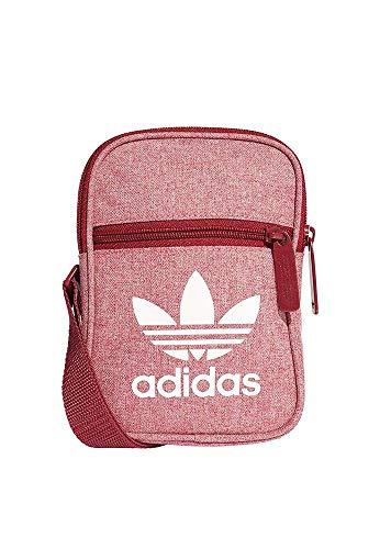 Adidas Fest Bag Casual Bolso Bandolera, 25 cm, Buruni/Blanco