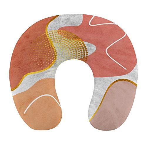 Almohada de viaje para el cuello de viaje para niños y mujeres, adultos, color rosa, espuma suave en forma de U, almohada de apoyo para la barbilla para avión, coche, tren, siesta o dormir