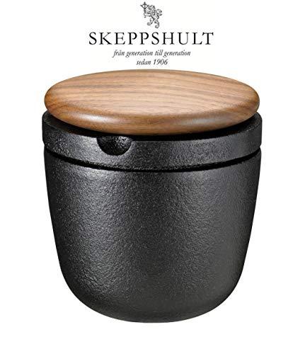Swing Gusseisen Pfeffermühle mit Walnussdeckel + Gratis Portion Pfeffer von Skeppshult