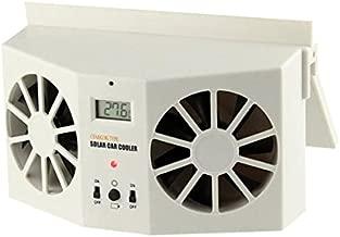 Ivory Solar Powered Dual Fan Car Front Rear Window Air Vent Cool Cooler Fan Windshield Fan Car Radiator