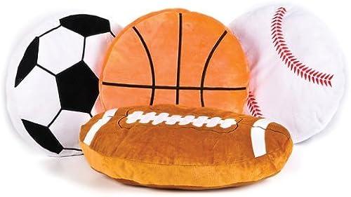 16 Plush Sports Ball Pillow Asst Case by Adventure Planet