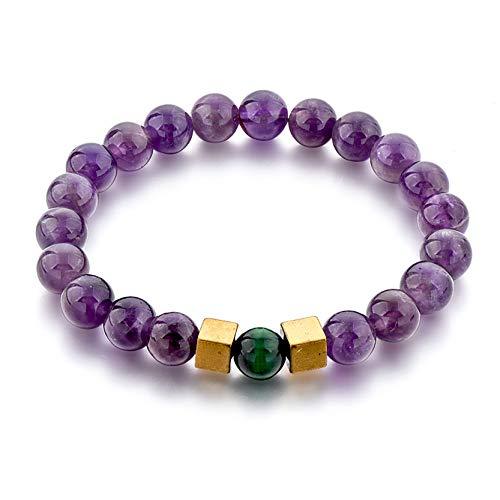 Ino 8mm Beaded Bracelets for Men & Women - Chakra Protection & Healing (XL, Amethyst)