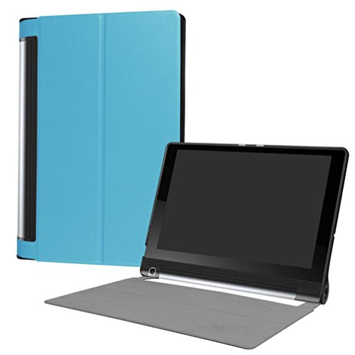 GBSELL Ultra Slim Leather Case Stand Cover for Lenovo Yoga Tab3 Plus 10.1inch (Blue)