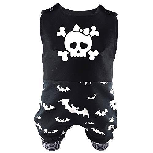 Eve Couture Babykleidung Baby Strampler Girlie Totenkopf & Fledermaus Mädchen Rock´n Roll Gothic schwarz (80/86)