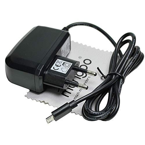 Ladegerät passend für VTech Storio MAX 5 Zoll, Storio Max 7 Ladekabel Netzladegerät 1A OTB mit mungoo Displayputztuch