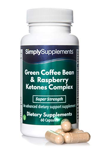 Complexe Café Vert et Cétone de Framboise| 7 nutriments d'origine naturelle |60 gélules|Adapté aux végétaliens| Jusqu'à 2 mois de bienfaits| SimplySupplements