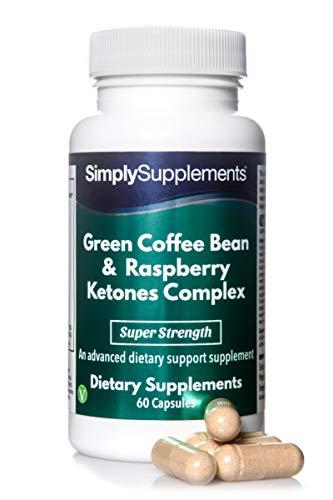 Complejo de grano de café verde y cetonas de frambuesa - ¡Bote para 2 meses! - Apto para veganos - 60 Cápsulas - SimplySupplements