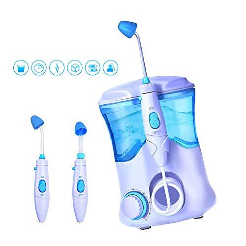 WHYTT Botella Lavado Nasal eléctrico 2 en 1, Limpiador Dental, Tratamiento de rinitis alérgica, Cuidado de la Nariz, se Puede Usar para niños Adultos (500 ml) Modo de energía AC