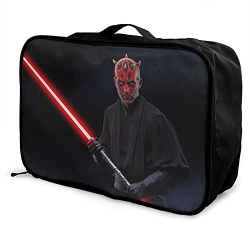 Star Darth Maul Wars - Bolsa de equipaje portátil de gran capacidad, impermeable, ligera, bolsa de almacenamiento
