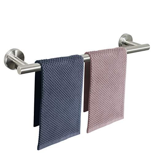 NearMoon Bathroom Towel Bar, Bath Accessories Thicken Stainless Steel Shower Towel Rack for Bathroom, Towel Holder Wall Mounted (Brushed Nickel, 24 Inch)