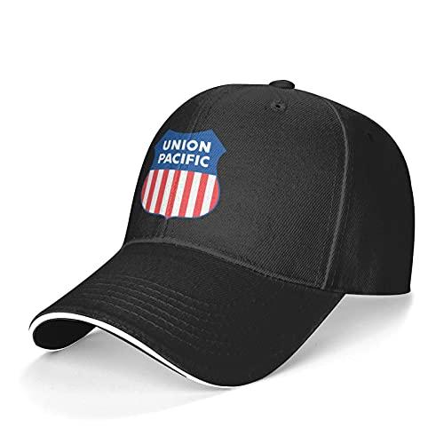 Union Pacific Railroad Sandwich Baseball Hats for Men Women Trucker Dad Adjustable Snapback Black