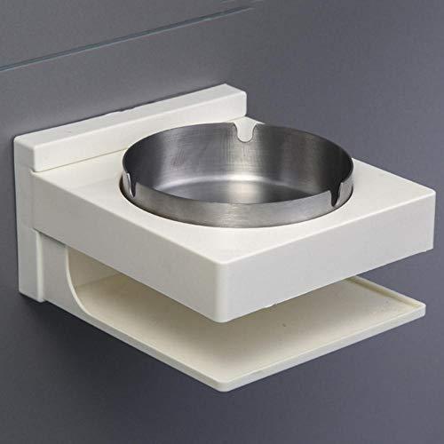 Cenicero Baño Punch-Free Acero Inoxidable montado en la Pared Cenicero Adecuado para lavabos Orinales para Hombres