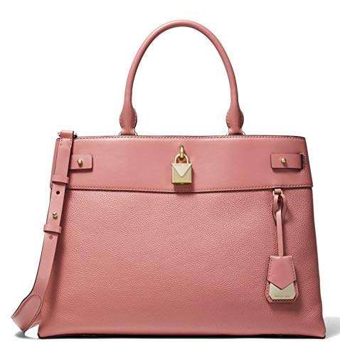 Gramercy satchel exudes uptown polish in a refined shape crafted from pebbled leather accented with minimal hardware. Finished with a lock charm, this sophisticated accessory boasts a structured top handle and adjustable shoulder strap that promise w...