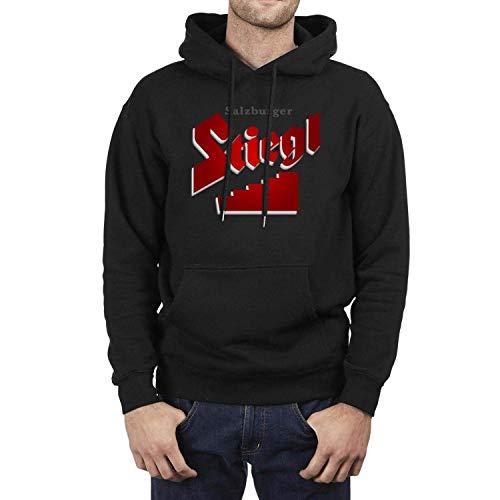 LXJ-CQ Langarm Herren Stiegl Radler Bier Logo Hoodie Schwarz Pullover Sweatshirt