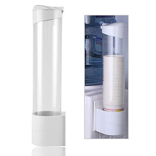 Kartonnen bekers, waterbekerdispenser aan de muur gemonteerde plastic dispenser voor papieren bekers en biologisch afbreekbare papieren kegels 7,5 cm 50 cups