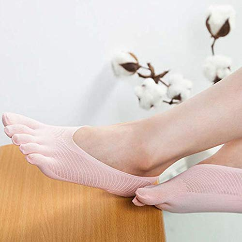 shadiao Calcetines de compresión Orthopedic para mujer, con forro ultra bajo con pestaña de gel transpirable