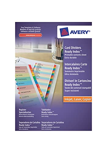 Avery 01735501 A4 ReadyIndex Pre-Printed Punched Dividers, 1-10 Numeric -...