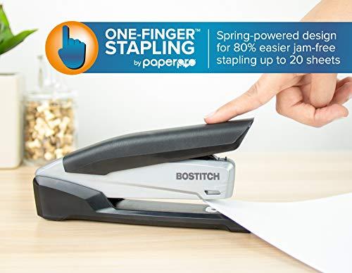 Bostitch Executive Stapler - 3 in 1 Stapler - One Finger, No Effort, Spring Powered Stapler, Black/Gray (INP20), 20 Sheets Photo #5