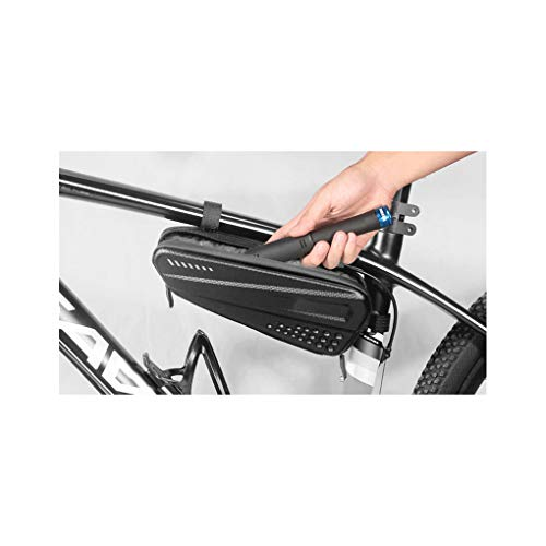 YMSHD Tube Frame Bag, Bicycle Bag Front Tube Frame Bag Hard Shell Rainproof Bike Bag Double Zipper Triangle Tools Pouch Cycling Accessories