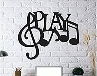 300Sparkles Play Letter Wall Art Cutout Wall Hanging Home Room Decor Wooden Frame Decor for Office, Home, Cafe, Party, Bla...