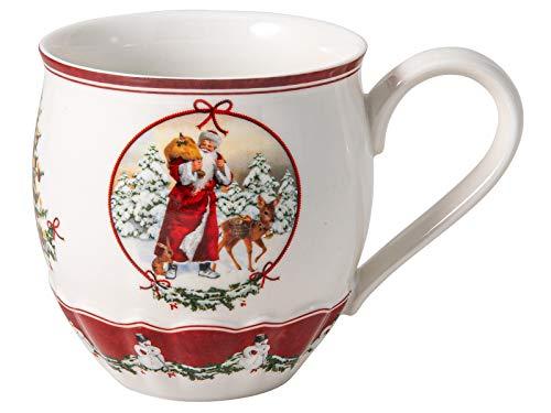 Villeroy & Boch Toys Fantasy Jumbobecher, Santa mit Waldtieren, Premium Porcelain, weiß, 0,53 l