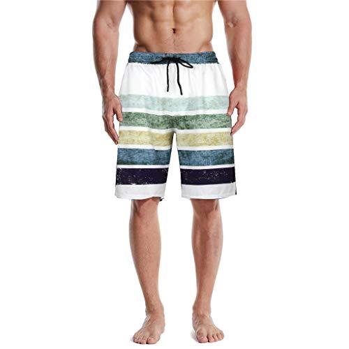 FORUU Best Mens Swim Shorts 2020, Summer Fashion Plus Size Swim Trunks 3D Print Graphic Casual Athletic Beach Short Pants Cool Mens Swim Trunks Mens Short Bathing Suit Fathers Day GIF