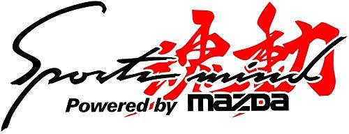 魂動■Sports mind■カッティングタイプ 防水ステッカー【横25cm】 (スポーツマインド マツダ) (ブラック/レッド)