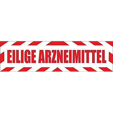 Indigos Ug Magnetschild Eilige Arzneimittel Mit Rahmen 45 X 12 Cm Magnetfolie Für Auto Lkw Truck Baustelle Firma Auto