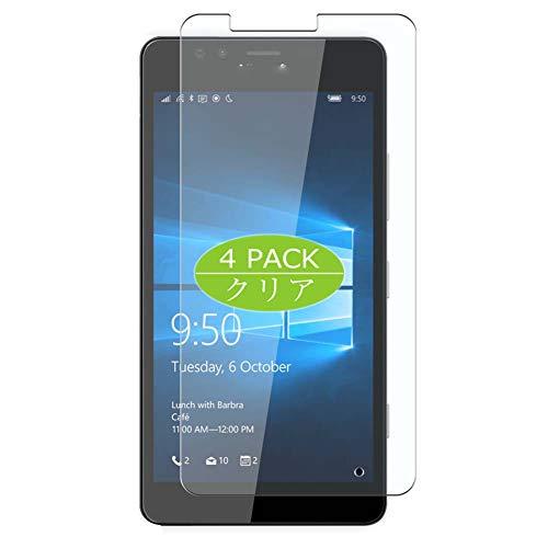 VacFun 4 Piezas HD Claro Protector de Pantalla Compatible con Microsoft Lumia 950, Screen Protector Sin Burbujas Película Protectora (Not Cristal Templado) New Version