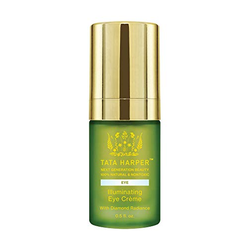 Tata Harper Illuminating Eye Crème | 100% Natural & Nontoxic | Age-Defying Eye Treatment with Diamond Radiance | .5oz