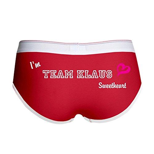 CafePress Team Klaus Women's Boy Brief, Boyshort Panty Underwear with Novelty Design Red/White