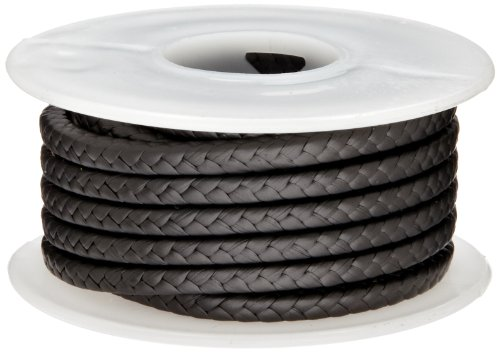 25 Length 3//8 Square Dull Gray Palmetto PINNACLE Series Flexible Graphite with PTFE and Lubrication Compression Packing Seal