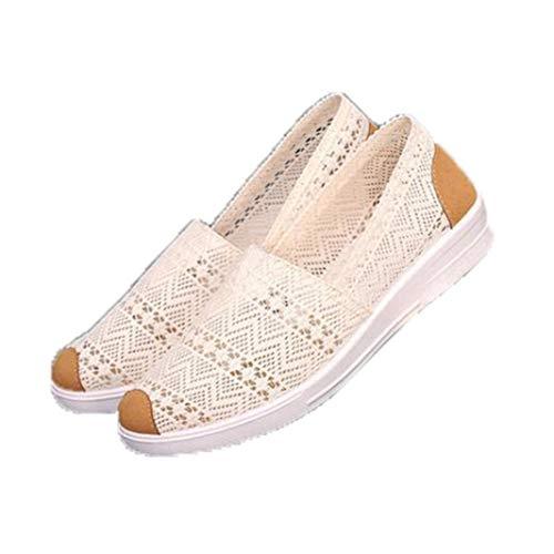 Sommer Frauen Mesh Loafers Casual Atmungsaktive Walking Sneakers Runde Zehen Flache Fahrschuhe Komfort Flacher Mund Slip On Turnschuhe