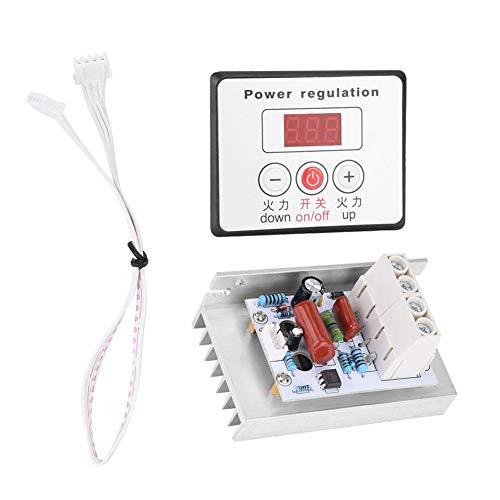 SCR Digital Spannungsregler 10000W Einstellbare Elektromotor Drehzahlregelung Dimmer Thermostat Modul AC 220V