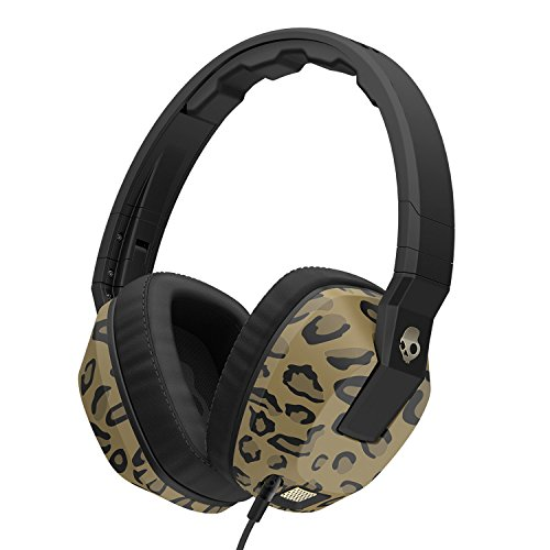 Skullcandy Crusher Headphones with Built-in Amplifier and Mic, Leopard
