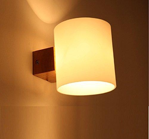 minimalistischen japanischen Stil Tatami neu Der Continental-Garten Holz-Wandlampe Wohnzimmer Schlafzimmer Balkon Flur Wandleuchte Nordic