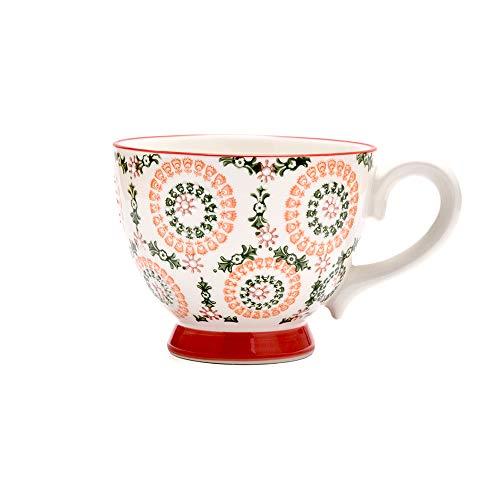 Petit Bonheur Tasse à Café en Céramique Dessiné à la Main Service pour Le Petit Dejeuner en Relief 450ML (01)