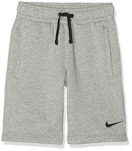 Nike Kinder Y FLC TM CLUB19 Shorts, Dk Grey Heather/Dark Steel Grey/Black, XS