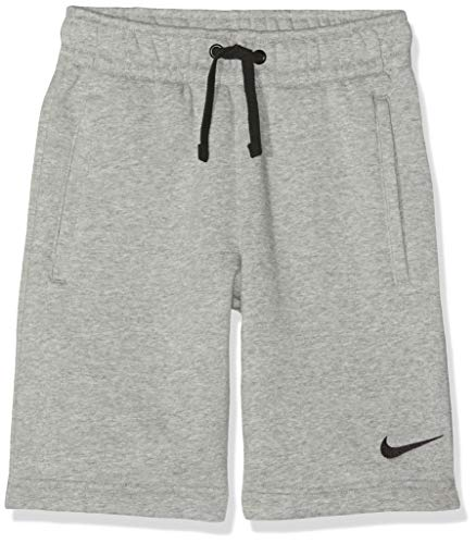 Nike Kinder Y FLC TM CLUB19 Shorts, Dk Grey Heather/Dark Steel Grey/Black, XS