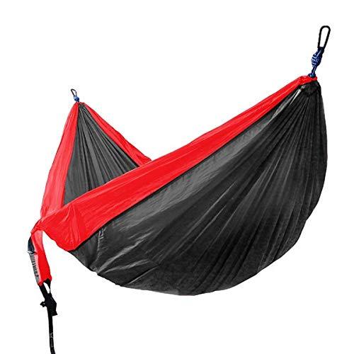 ADSIKOOJF Enkel & Dubbele Camping Hangmat met Hangmat Boom Bandjes Draagbare Parachute Nylon Hangmat voor Backpacking Reizen