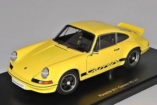 AUTOart Porsche 911 Carrera RS 2.7 Coupe Gelb Schwarz1964-1973 78053 1 18 Modell Auto mit individiuellem Wunschkennzeichen