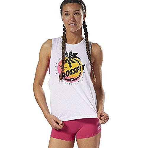 Reebok Camiseta de tirantes para mujer Crossfit Cali Muscle – Women