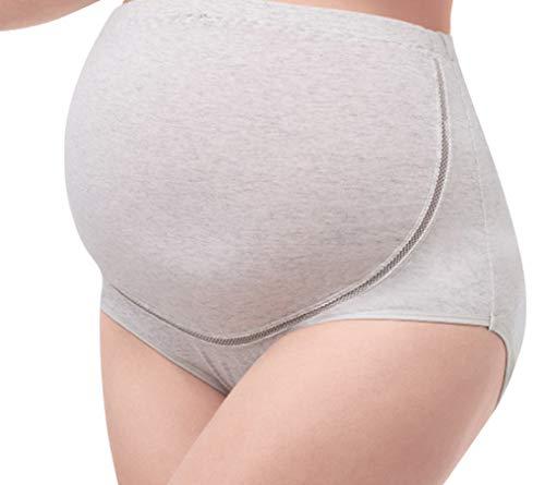 KAZOGU Ropa Interior de Maternidad Bandas para el Vientre Algodón Cintura Alta Soporte para la Espalda Cuna prenatal Estiramiento del estómago Bragas de Lactancia Ajustables