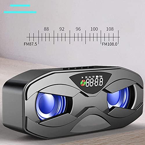 ワイヤレスBluetoothスピーカーの目覚まし時計、LED HDディスプレイカラーフラッシュライトFMラジオテーブルクロック、(ピンク)