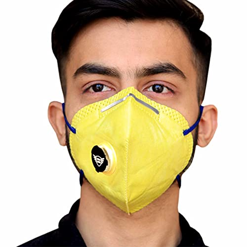 urbangabru Polyester Reuseable N95 Mask (With Valve) for Unisex
