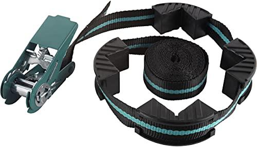 Wolfcraft Ratschen-Bandspanner 4 m I 3441000 I Multifunktional einsetzbar: als normaler Zurrgurt oder mit Spannbacken als Rahmenspanner